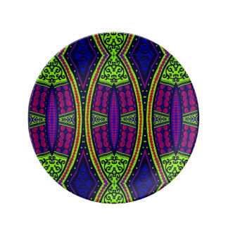 Eastern tribal contemporary abstract plate