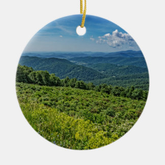 Eastern View from Shenandoah National Park Christmas Ornament