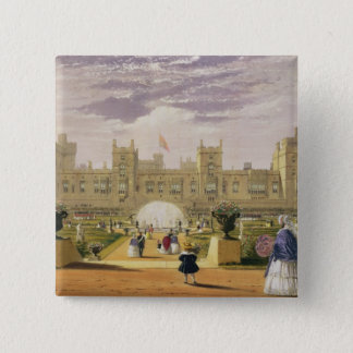 Eastern view of the Castle and Garden, Windsor Cas 15 Cm Square Badge