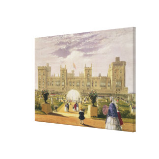 Eastern view of the Castle and Garden, Windsor Cas Canvas Print
