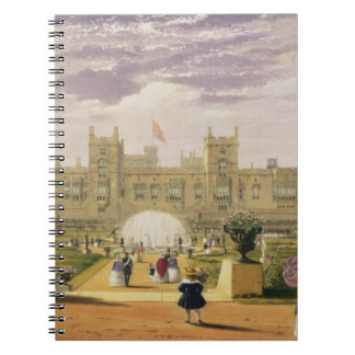 Eastern view of the Castle and Garden, Windsor Cas Notebooks