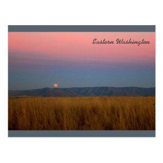 Eastern Washington Moonrise Postcard