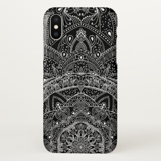 Eastern Zen Mandala Black and white Fine lace iPhone X Case