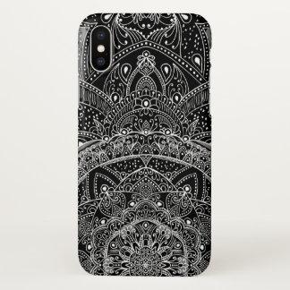 Eastern Zen Mandala Black and white Fine lace iPhone X Case