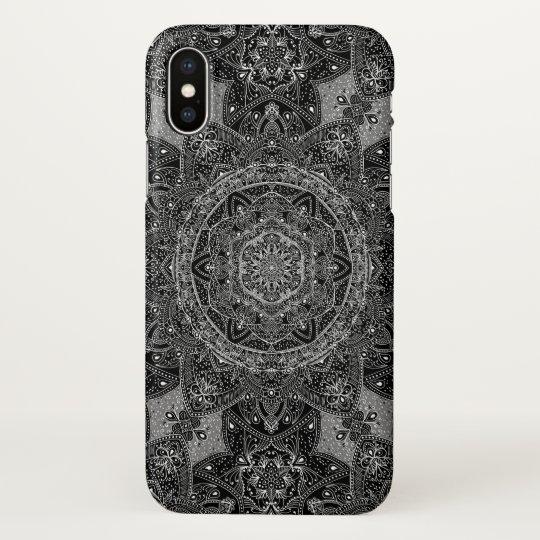 Eastern Zen Mandala Black and white Fine lace