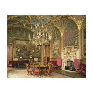 Eastnor Castle, Herefordshire: the drawing Canvas Print