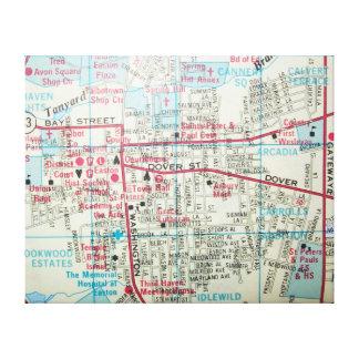 EASTON, MD Vintage Map Canvas Print