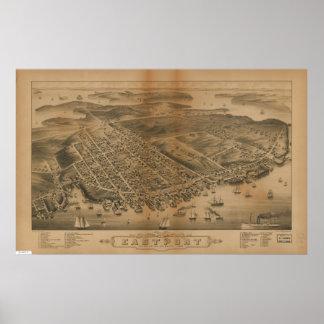 Eastport Maine 1879 Antique Panoramic Map Print