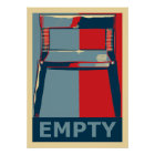Eastwooding the Chair Funny Obama Political Humour Poster