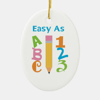 EASY AS ABC CERAMIC OVAL DECORATION
