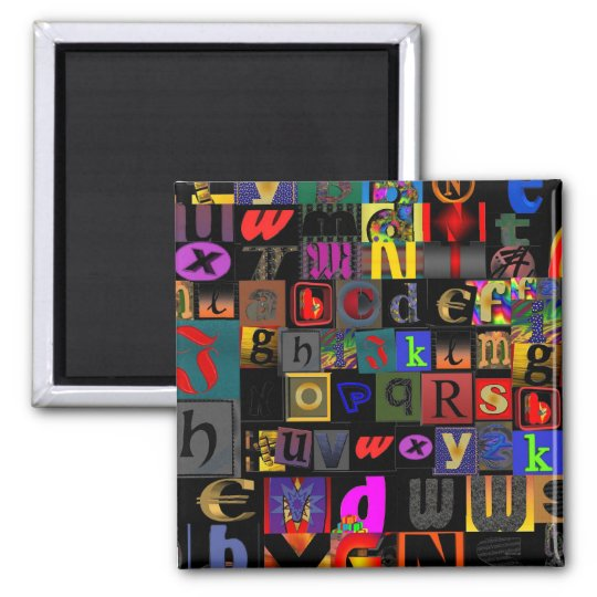 Easy as ABC Square Magnet