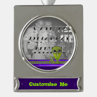 Easy Bein Green Silver Plated Banner Ornament