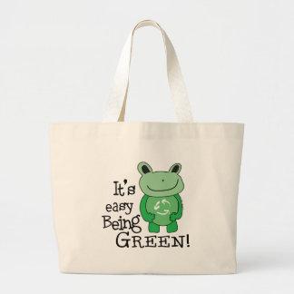 Easy Being Green Jumbo Tote Bag
