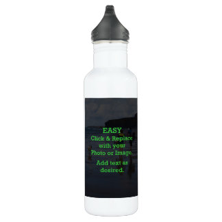 Easy Click & Replace Image to Create Your Own 710 Ml Water Bottle