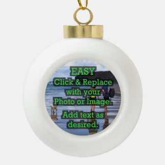 Easy Click & Replace Image to Create Your Own Ceramic Ball Christmas Ornament