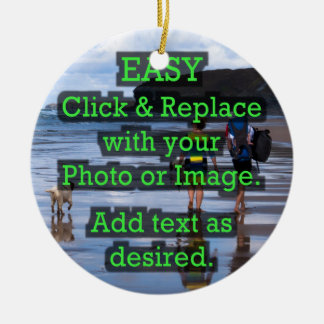 Easy Click & Replace Image to Create Your Own Christmas Ornament