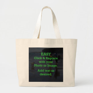 Easy Click & Replace Image to Create Your Own Large Tote Bag