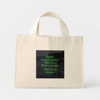 Easy Click & Replace Image to Create Your Own Mini Tote Bag