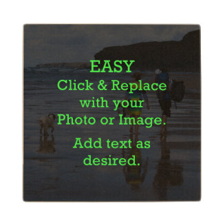 Easy Click & Replace Image to Create Your Own Wood Coaster