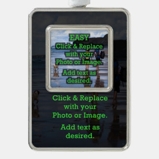 Easy Click to Create Your Own Photo on Photo/Image Silver Plated Framed Ornament