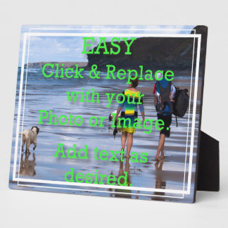Easy Click to Create Your Own White Line Border Plaque