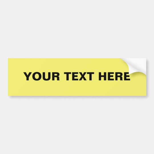 Easy Custom Bumper Sticker Template, Yellow FFFF66