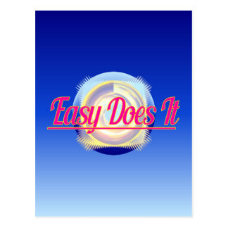 EASY DOES IT logo style Post Card