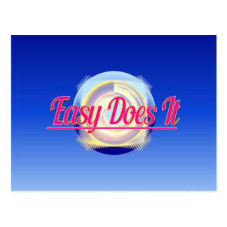 EASY DOES IT logo style Post Cards