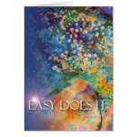 Easy Does It Rocks & Flowers Card