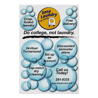 Easy Laundry Poster