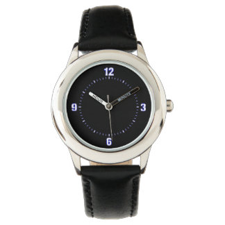Easy Read White on Black Watch