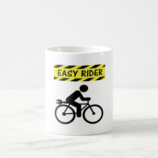 """Easy rider"" ebike custom mugs for cyclists"