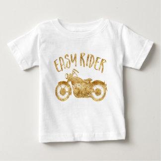 Easy Rider Gold Glitter Print T-Shirt