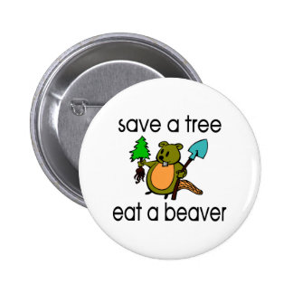 Eat A Beaver 6 Cm Round Badge