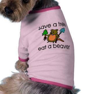 Eat A Beaver Pet Tshirt