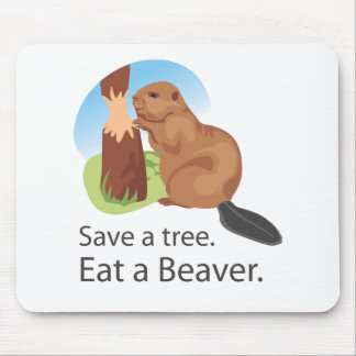 Eat A Beaver Mouse Pad