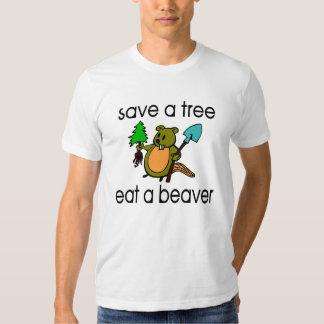 Eat A Beaver Tee Shirt