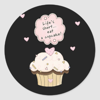 Eat A Cupcake Stickers