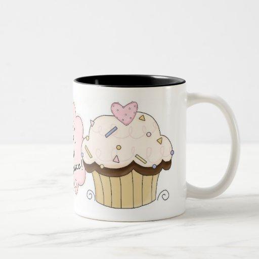 Eat A Cupcake Two-Tone Mug