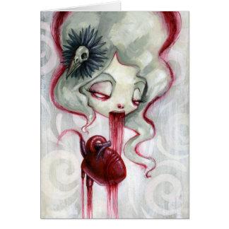 Eat a heart, gain its love note card