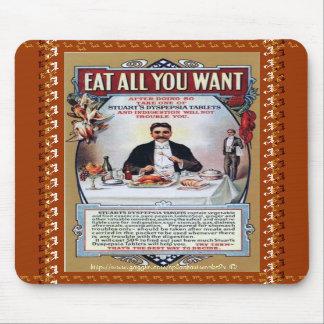 Eat all you want-Stuarts Vintage Dyspepsia Tablet  Mouse Pads