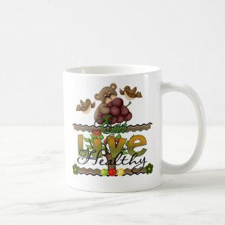 Eat and Live Healthy Basic White Mug