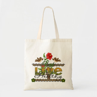 Eat and Live Healthy Budget Tote Bag