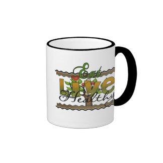 Eat and Live Healthy Coffee Mug