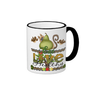 Eat and Live Healthy Coffee Mugs