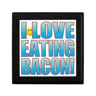 Eat Bacon Life B Small Square Gift Box