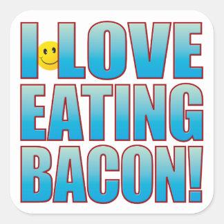 Eat Bacon Life B Square Sticker