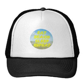 eat beach sleep repeat vintage t-shirt cap