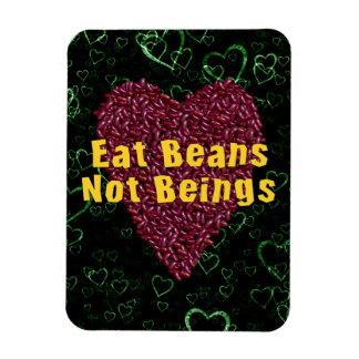 Eat Beans Not Beings Rectangular Photo Magnet
