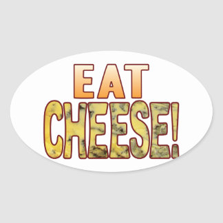 Eat Blue Cheese Oval Sticker